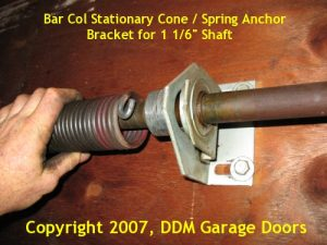 BarCol stationary cone and spring anchor bracket for 1 1/16 inch shaft.