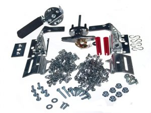 Parts for lock assembly that uses sash chains and s-hooks.