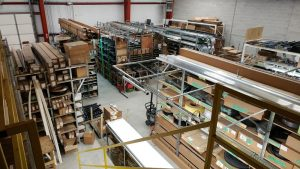The inside of DDM Garage Doors, Inc. warehouse where we understand that shipping is not free.
