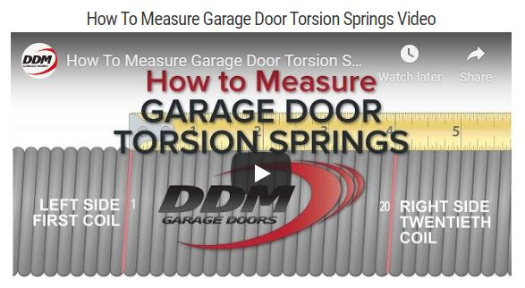 YouTube video that Shows How to Measure Garage Door Springs