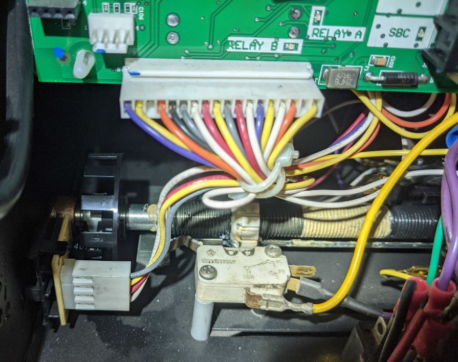 An image of an installed limit switch.