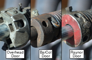 Technicians beware when changing Unsafe Overhead Door, BarCol Door and Raynor Garage Door Torsion Springs