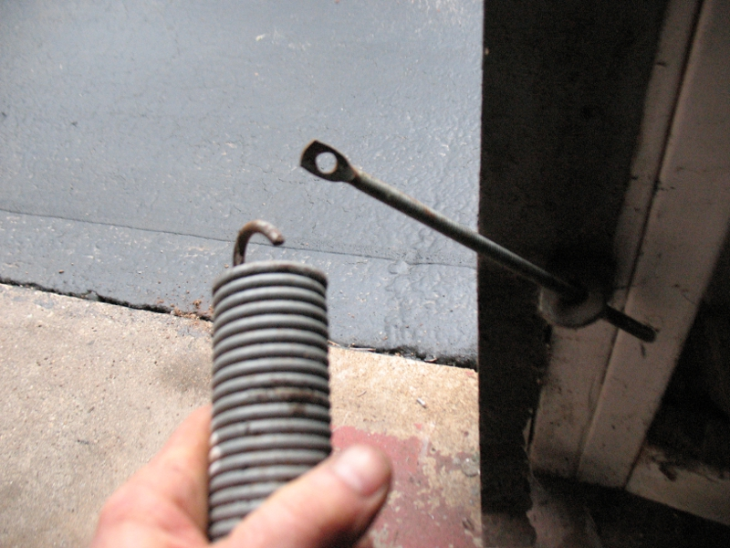 One Piece Single Panel Garage Door Extension Spring Replacement