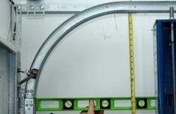 Garage door high lift vertical lift inquiry for Garage door horizontal track