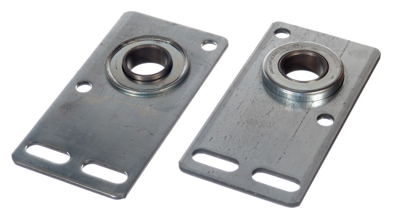 how to replace garage door end bearing plate