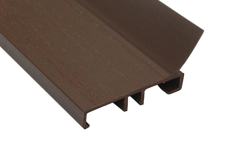 Garage door stop molding pvc stop molding solid 2 quot for Garage door stop molding weather seal