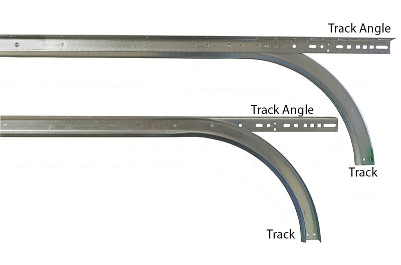 2 Horizontal Track W Angle For 12 39 High Doors 12