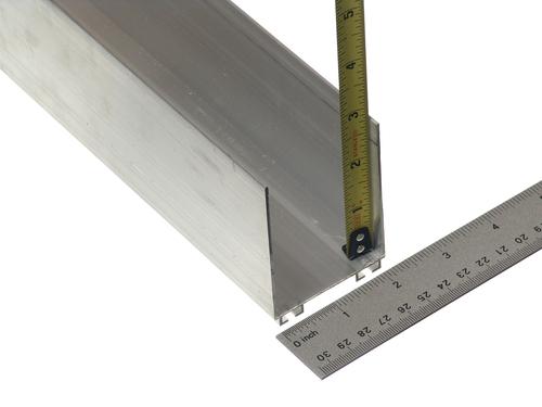 Aluminum Bottom Seal Retainer 2 Quot X 3 Quot C Channel 8 2