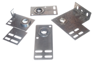 Garage door end bearing plates