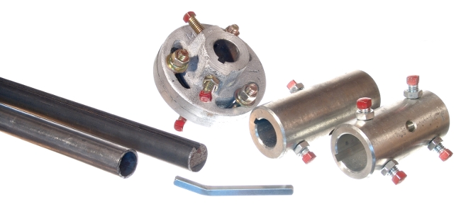 Garage door torsion spring shafts and couplers