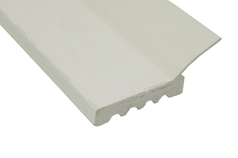 """PVC Stop Molding Solid 2"""" White Part STS 210WH"""