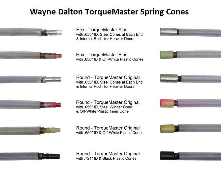 Wayne Dalton Garage Door TorqueMaster One Replacement Springs 8 Foot Door Height Double Spring 180-189 Door Weight