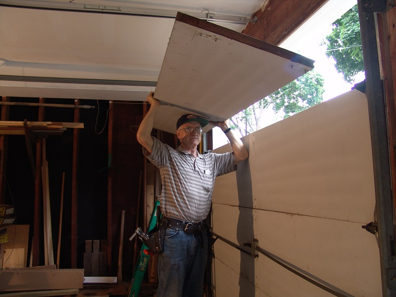 Fully insulated flush sections were also made but the temperature difference between outside and outside often caused the sections to bow. & Garage Door Sections - Dan\u0027s Garage Door Blog
