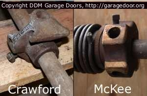 Homeowners beware when replacing Unsafe Crawford and McKee Garage Door Torsion Springs
