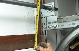 14 measure this distance from the top of the door to the header make