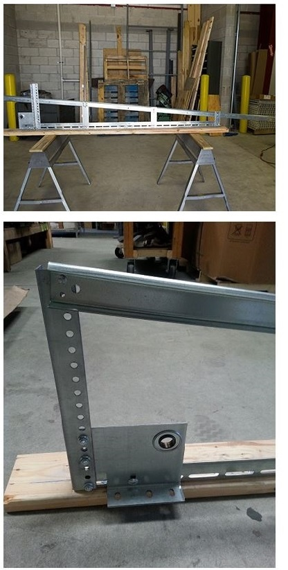 Vertical lift track assembly for Garage door track assembly