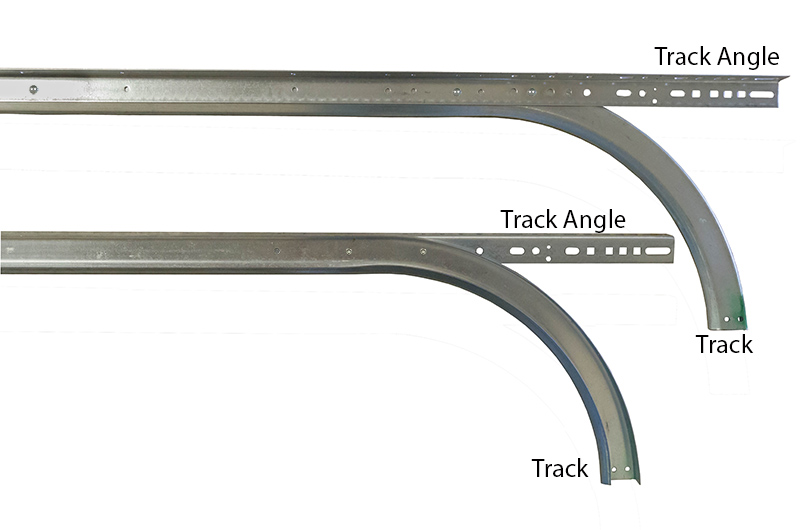 2 horizontal track w angle for 12 39 high doors 12 for Garage door horizontal track
