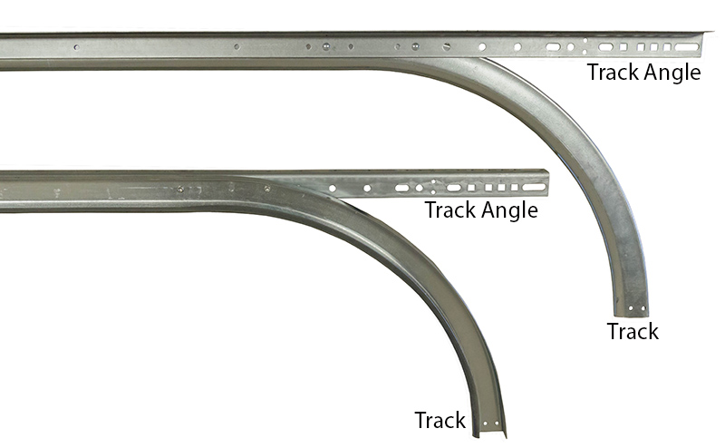 2 horizontal track w angle for 16 39 high doors 15 for Garage door horizontal track