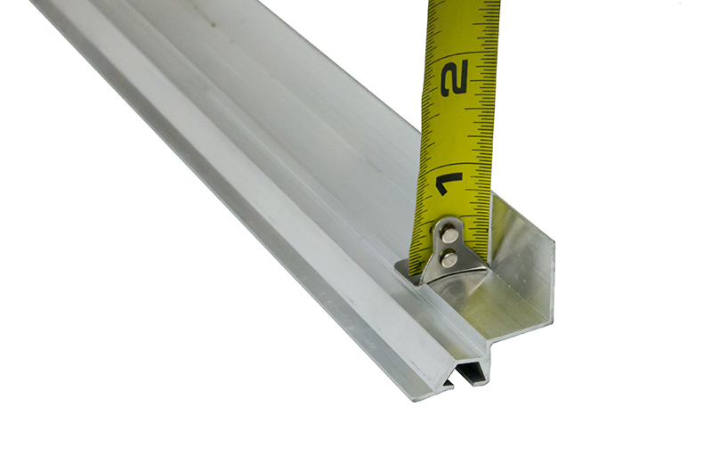 aluminum bottom seal retainer 1 3 8 x 3 4 l single